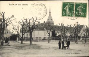 Ak Selles sur Cher Loir et Cher, Le Champ de Foire
