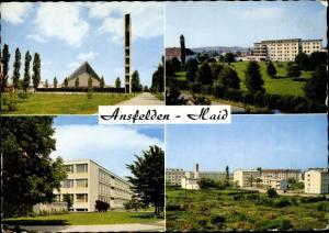 Ak Haid Ansfelden in Oberösterreich, Autobahnkirche, Bezirksaltersheim, Hauptschule, Wohnhäuser