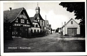 Ak Altenheim Neuried in Baden Württemberg, Hauptstraße