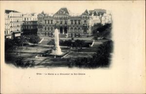 Ak Oran Algerien, La Mairie et le Monument de Sidi Brahim