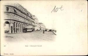 Ak Algier Alger Algerien, Boulevard Carnot, tramway