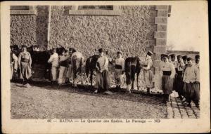 Ak Batna Algerien, Le Quartier des Spahis, Le Pansage