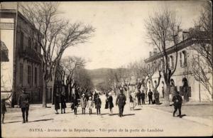 Ak Batna Algerien, Avenue de la République, Vue prise de la porte de Lambèse