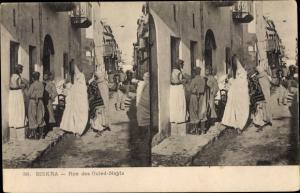 Stereo Ak Biskra Algerien, Rue des Ouled Nayls