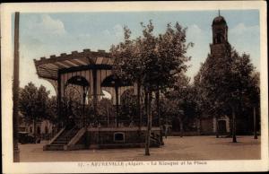 Ak Affreville Algerien, Le Kiosque et la Place