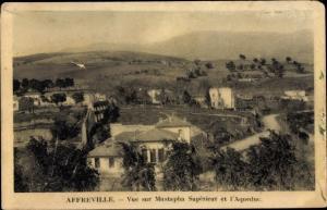 Ak Affreville Algerien, Vue sur Mustapha Supérieur et l'Aqueduc