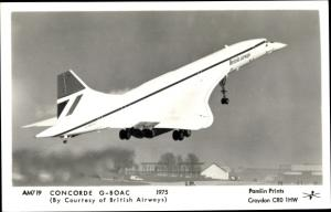 Ak Concorde G-BOAC 1975, British Airways