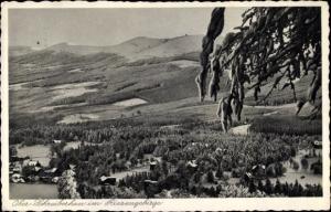 Ak Szklarska Poręba Schreiberhau Riesengebirge Schlesien, Blick zu den Schneegruben