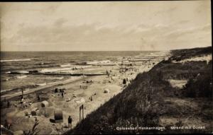 Ak Ustronie Morskie Henkenhagen Pommern, Strand mit Dünen