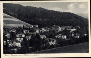 Ak Duszniki Zdrój Bad Reinerz Schlesien, Ort vom Hutberge aus gesehen