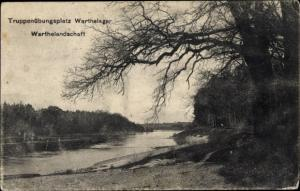 Ak Poznań Posen, Truppenübungsplatz Warthelager, Warthelandschaft