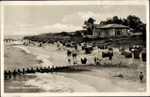 Ak Berg Dziwnów Dievenow in Pommern, Strandpartie, Strandkörbe