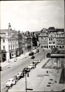 Ak Poznań Posen, Stary Rynek, Straßenpartie, Autos