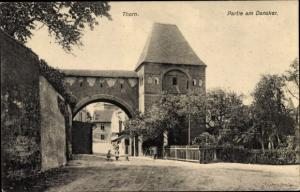 Ak Toruń Thorn Westpreußen, Partie am Dansker, Tor