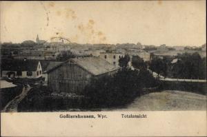 Ak Jabłonowo Pomorskie Goßlershausen Westpreußen, Totalansicht der Ortschaft