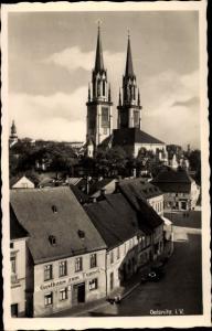Ak Oelsnitz Vogtland, Gasthaus zu Tunnel, Kirche