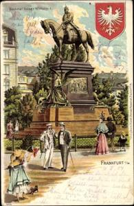 Wappen Litho Frankfurt am Main, Kaiser Wilhelm Reiterdenkmal