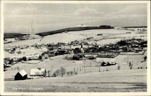 Ak Seiffen im Erzgebirge, Winterpartie, Panorama