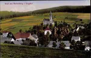 Ak Rechenberg Bienenmühle Erzgebirge, Panorama