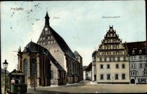Ak Freiberg in Sachsen, Ortsansicht, Dom, Albertmuseum