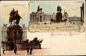 Ganzsachen Litho Berlin Mitte, PP 9 C19 01, Denkmal Wilhelm der Große