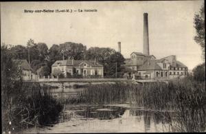 Ak Bray sur Seine Seine et Marne, La Sucrerie