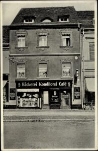 Ak Lübben im Spreewald, Bäckerei, Cafe Donath, Breitestraße 12