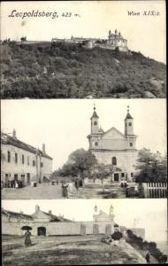 Ak Wien 19 Döbling Grinzing, Leopoldsberg, Kirche, Festung