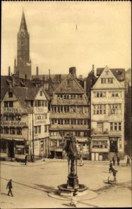 Ak Hamburg, Partie am Messberg, Brunnen