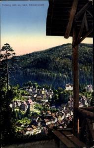 Ak Triberg im Schwarzwald, Blick auf den Ort