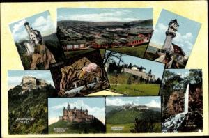Ak Bisingen in Baden Württemberg, Hohenzollern, Hohen-Neuffen, Schloss Grafeneck, Barackenlager