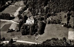 Ak Annweiler am Trifels im Kreis Südliche Weinstraße, Kurhaus Trifels, Fliegeraufnahme