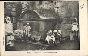 Ak Mila Algerien, Vieille Ville, La Fontaine Romaine