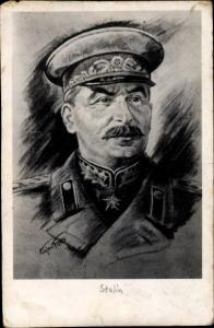 Künstler Ak Joseph Stalin, Sowjetunion, Portrait