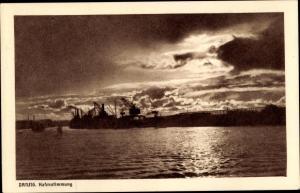 Ak Gdańsk Danzig, Hafenstimmung