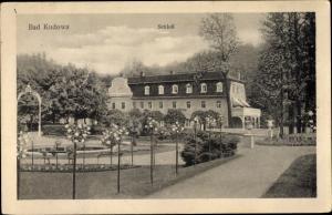 Ak Kudowa Zdrój Bad Kudowa Schlesien, Schloss, Gartenpartie
