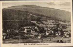 Ak Świeradów Zdrój Bad Flinsberg Schlesien, Ort mut Heufuder