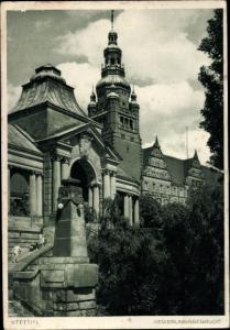 Ak Szczecin Stettin Pommern, Regierungsgebäude
