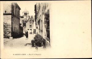 Ak Saint Aignan sur Cher Loir et Cher, Rue de la Raquette