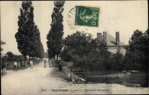 Ak Marchenoir Loir et Cher, Route de Beaugency