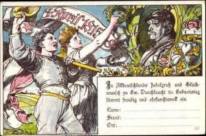 Ganzsachen Künstler Ak Friedrichsruh Aumühle, Geburtstag Bismarck, PP 9 C 3 03