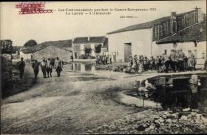 Ak Dugny sur Meuse, Les Cantonnements pendant la Guerre Europeenne 1915, Le Lavoir, L'Abreuvoir