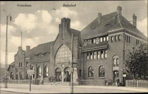 Ak Grudziądz Graudenz Westpreußen, Bahnhof