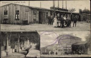Ak Bisellen Ostpreußen Biessellen, Bahnhof, Kriegsküche, Innenansicht