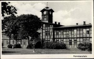 Ak Czarne Hammerstein Westpreußen, Fachwerkhaus mit Turm
