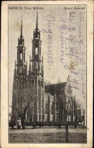 Ak Siedlce Polen, Neue Kirche