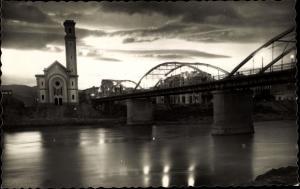 Ak Tortosa Katalonien, Puente de tránsito sobre el rio Ebro