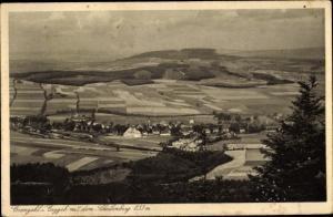 Ak Cranzahl Sehmatal im Erzgebirge, Panorama mit dem Scheibenberg