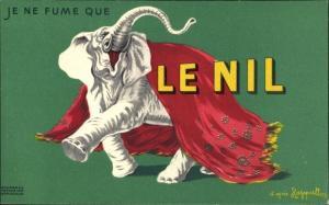 Künstler Ak Je ne fume que Le Nil, Elefant, Reklame