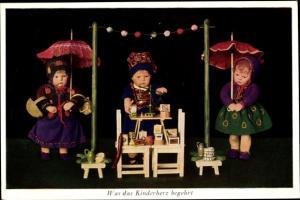 Ak Puppen, Was das Kinderherz begehrt, Käthe Kruse